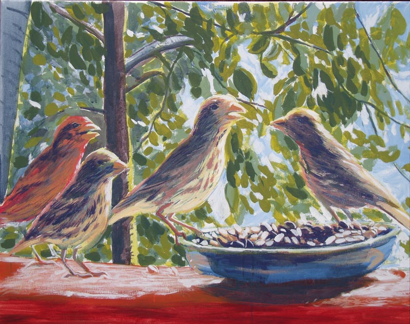 Gerry Brophy - Arist - Grosbeaks - www.eriscreations.com