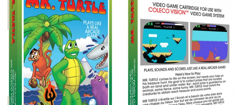 Mr. Turtle the Box – Artwork concept for Mr. Turtle video game box
